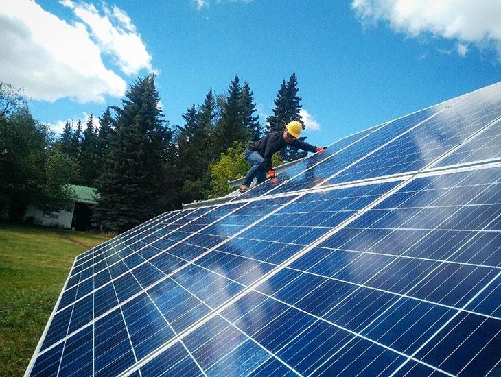 Solar System In Central Alberta