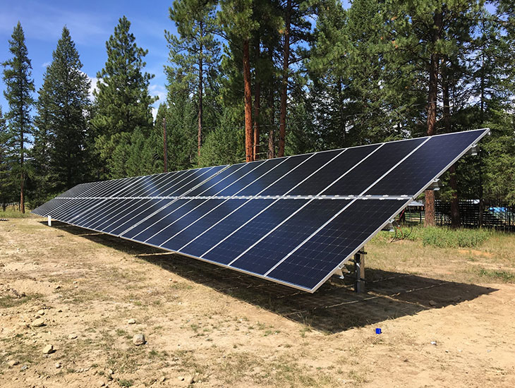 Municipal solar project | Wycliffe Exhibition Grounds | the Regional District of East Kootenay, BC