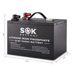 SOK 100Ah 12V LiFePO4 Deep Cycle Battery